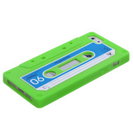 MyBat Retro Cassette Skin Cover for Apple iPhone 5s/5 - Apple Green