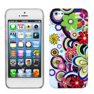 MyBat Back Protector Cover for Apple iPhone 5s/5 - Colorful Flowers