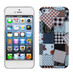 MyBat Back Protector Cover for Apple iPhone 5s/5 - Cloth Puzzle