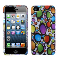 MyBat Protector Cover for Apple iPhone 5s/5 - Rainbow Gemstones (2D Silver)