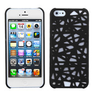 MyBat Bird's Nest Back Protector Cover for Apple iPhone 5s/5 - Rubberized Black