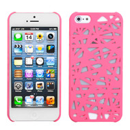 MyBat Bird's Nest Back Protector Cover for Apple iPhone 5s/5 - Rubberized Pink