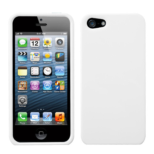 MyBat Protector Cover for Apple iPhone 5s/5 - Solid Ivory White