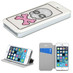 MyBat MyJacket with Colorful Beads Inside Rectangles for Apple iPhone 5s/5 - White
