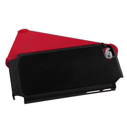 MyBat Frosted Fusion Protector Cover for Apple iPhone 5s/5 - Black / Red