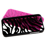 MyBat Fusion Protector Cover for Apple iPhone 5s/5 - Natural Black Zebra Skin / Hot Pink