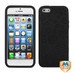 MyBat Puppypaw Hybrid Protector Cover for Apple iPhone 5s/5 - Rubberized Black / Black