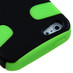 MyBat Fishbone Protector Cover for Apple iPhone 5s/5 - Rubberized Black / Electric Green