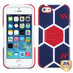 MyBat Goalkeeper Hybrid Protector Cover (with Red Stand) for Apple iPhone 5s/5 - Sapphire Blue / Red