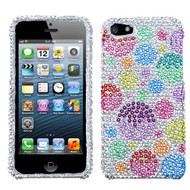 MyBat Diamante Protector Cover for Apple iPhone 5s/5 - Rainbow Bigger Bubbles