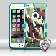 MyBat TUFF Merge Hybrid Protector Cover [Military-Grade Certified] for Apple iPhone 6s Plus/6 Plus - Green / Brown Camo / Forest Green