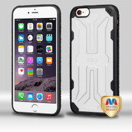 MyBat DefyR Hybrid Protector Cover for Apple iPhone 6s Plus/6 Plus - Natural Cream White / Black