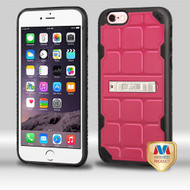 MyBat DefyR Hybrid Protector Cover (with Stand) for Apple iPhone 6s Plus/6 Plus - Natural Pink / Black