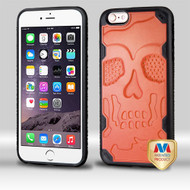 MyBat DefyR Hybrid Protector Cover-Skullcap for Apple iPhone 6s Plus/6 Plus - Natural Orange / Black