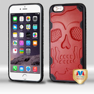 MyBat DefyR Hybrid Protector Cover-Skullcap for Apple iPhone 6s Plus/6 Plus - Natural Red / Black
