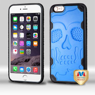 MyBat DefyR Hybrid Protector Cover-Skullcap for Apple iPhone 6s Plus/6 Plus - Natural Dark Blue / Black
