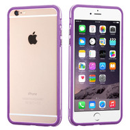 MyBat MyBumper Protector Cover for Apple iPhone 6s Plus/6 Plus - Purple / Transparent Clear