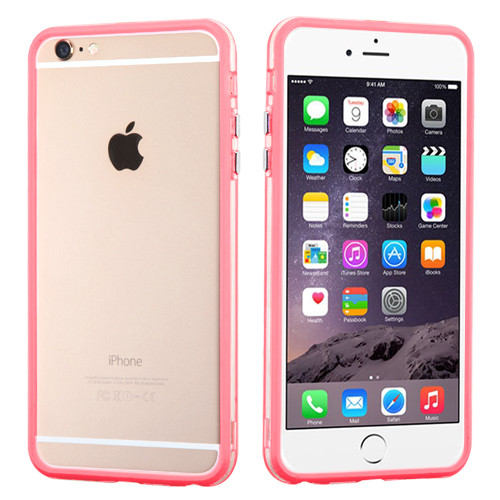 MyBat MyBumper Protector Cover for Apple iPhone 6s Plus/6 Plus - Pink / Transparent Clear