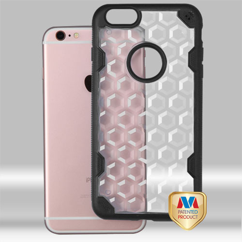 MyBat Challenger Hybrid Protector Cover for Apple iPhone 6s Plus/6 Plus - Transparent Clear Honeycomb / Black