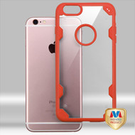 MyBat FreeStyle Challenger Hybrid Protector Cover for Apple iPhone 6s Plus/6 Plus - Transparent Clear / Orange