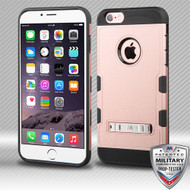 MyBat TUFF Trooper Hybrid Protector Cover [Military-Grade Certified] (with Stand) for Apple iPhone 6s Plus/6 Plus - Rose Gold / Black