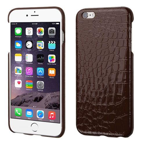 MyBat Crocodile Skin Executive Back Protector Cover for Apple iPhone 6s Plus/6 Plus - Brown