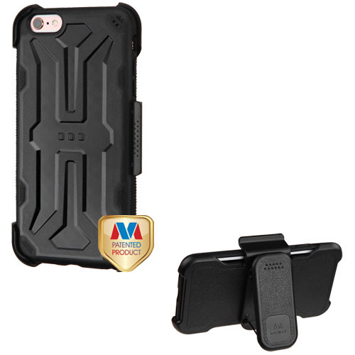 MyBat DefyR Hybrid Protector Cover (with Black Horizontal Holster) for Apple iPhone 6s Plus/6 Plus - Natural Blake / Black