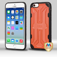 MyBat DefyR Hybrid Protector Cover for Apple iPhone 6s/6 - Natural Orange / Black