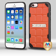 MyBat DefyR Hybrid Protector Cover (with Stand) for Apple iPhone 6s/6 - Natural Orange / Black