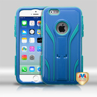 MyBat TUFF Extreme Hybrid Protector Cover for Apple iPhone 6s/6 - Natural Dark Blue / Tropical Teal