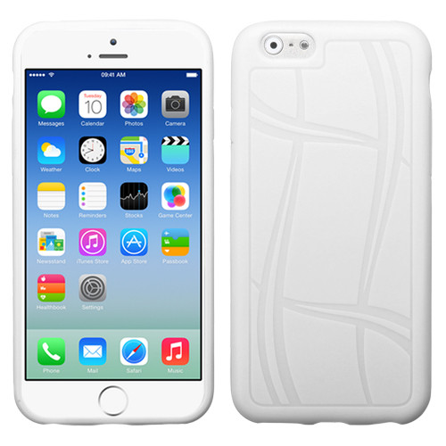 MyBat Basketball Texture Candy Skin Cover for Apple iPhone 6s/6 - White