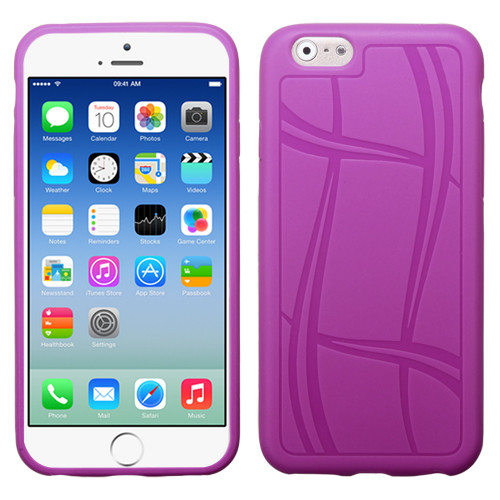 MyBat Basketball Texture Candy Skin Cover for Apple iPhone 6s/6 - Purple