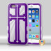 MyBat Cross Hybrid Protector Cover for Apple iPhone 6s/6 - Rubberized Grape / Solid White