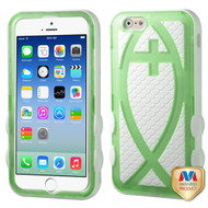 MyBat Fish Hybrid Protector Cover for Apple iPhone 6s/6 - T-Green / Solid White