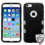 MyBat TUFF Hybrid Protector Cover [Military-Grade Certified] for Apple iPhone 6s/6 - Natural Black / Iron Gray