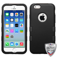 MyBat TUFF Hybrid Protector Cover [Military-Grade Certified] for Apple iPhone 6s/6 - Rubberized Black / Black