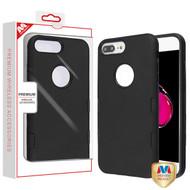 MyBat TUFF Subs Hybrid Case for Apple iPhone 8 Plus/7 Plus - Rubberized Black / Black