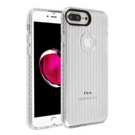 MyBat Suitup Candy Skin Cover for Apple iPhone 8 Plus/7 Plus - Transparent Clear