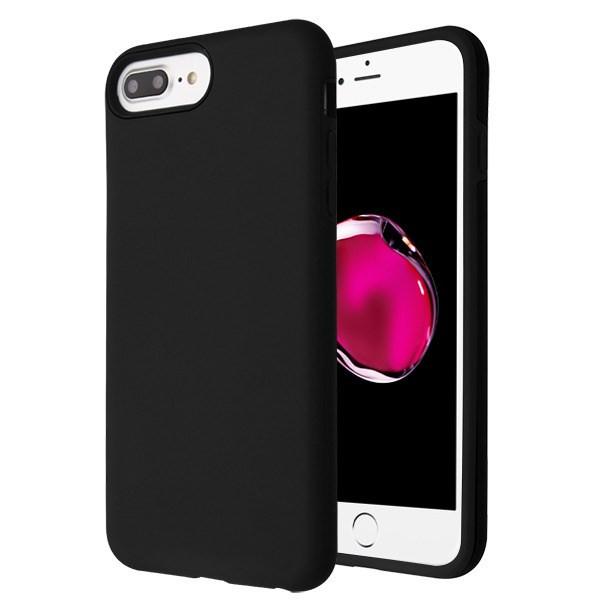 MyBat Fuse Hybrid Protector Cover for Apple iPhone 8 Plus/7 Plus - Rubberized Black / Black