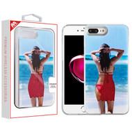 MyBat Quicksand Hybrid Protector Cover for Apple iPhone 8 Plus/7 Plus - Islander