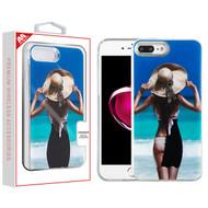 MyBat Quicksand Hybrid Protector Cover for Apple iPhone 8 Plus/7 Plus - Summer Girl