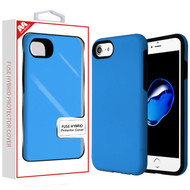 MyBat Fuse Hybrid Protector Cover for Apple iPhone 8/7 - Rubberized Dark Blue / Black