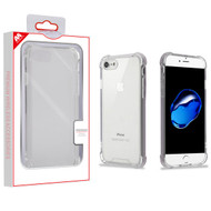MyBat Sturdy Gummy Cover for Apple iPhone 8/7 - Highly Transparent Clear / Transparent Clear