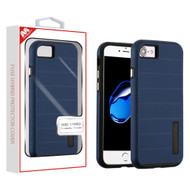 MyBat Fusion Protector Cover for Apple iPhone 8/7 - Ink Blue Dots Textured / Black