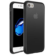 MyBat Frost Hybrid Protector Cover for Apple iPhone 8/7 - Semi Transparent Smoke Frosted / Rubberized Black