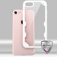 MyBat FreeStyle Challenger Hybrid Protector Cover [Military-Grade Certified] for Apple iPhone 8/7 - Transparent Clear / Solid White