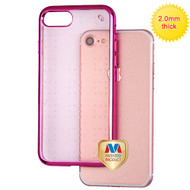 MyBat SPOTS Electroplated Premium Candy Skin Cover for Apple iPhone 8/7 - Hot Pink Glassy Rose Gold