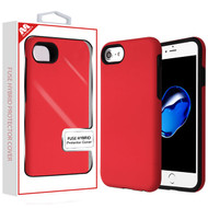 MyBat Fuse Hybrid Protector Cover for Apple iPhone 8/7 - Rubberized Red / Black