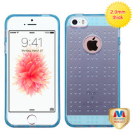 MyBat SPOTS Candy Skin Cover for Apple iPhone SE - Glassy Transparent Baby Blue