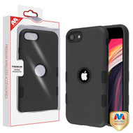 MyBat TUFF Subs Hybrid Case for Apple iPhone SE (2020) - Rubberized Black / Black